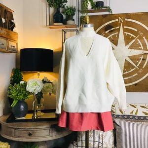 Zara women's Cream Knit Sweater Sz med NWT